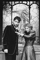 THE PHILANDERER by George Bernard Shaw set design: Tom Piper costumes: Isabella Bywater lighting: Mark Henderson director: Brian Cox <br>Clive Owen (Leonard Charteris), Eleanor David (Julia Craven) Ha...