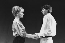 THE RIDE DOWN MT. MORGAN by Arthur Miller design: Tanya McCallin director: Michael Blakemore <br> Clare Higgins (Leah), Tom Conti (Lyman)Wyndham's Theatre, London WC2 31/10/1991(c) Donald Cooper/Photo...