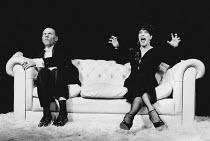 DECADENCE written & directed by Steven Berkoff design: Mani Fagenblum lighting: Howard Harrison <br>Steven Berkoff (Les), Linda Marlowe (Helen) New End Theatre, London NW3 21/07/1981 (c) Donald Cooper...