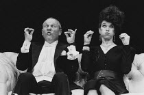 DECADENCE written & directed by Steven Berkoff design: Mani Fagenblum <br>~Steven Berkoff (Les), Linda Marlowe (Helen) Wyndham's Theatre, London WC2 26/02/1987 (c) Donald Cooper/Photostage photos@phot...