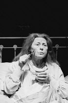 BAILEGANGAIRE by Tom Murphy design: Frank Conway director: Garry Hynes <br> Siobhan McKenna (Mommo) Druid Theatre Company, Galway / Donmar Warehouse, London WC2 19/02/1986 (c) Donald Cooper/Photostage...