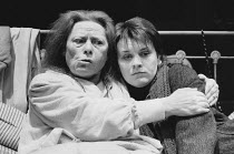 BAILEGANGAIRE by Tom Murphy design: Frank Conway director: Garry Hynes <br> l-r: Siobhan McKenna (Mommo), Mary McEvoy (Dolly) Druid Theatre Company, Galway / Donmar Warehouse, London WC2 19/02/1986 (c...