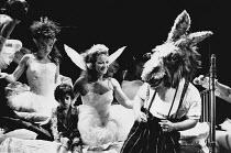 A MIDSUMMER NIGHT'S DREAM by Shakespeare design: Sue Blane lighting: Alan Burrett director: John Caird <br> Clare Higgins (Titania), David Troughton (Bottom) with fairies Royal Shakespeare Company (RS...