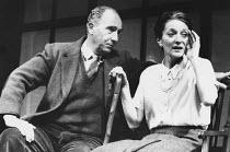 SHADOWLANDS by William Nicholson design: Mark Thompson director: Elijah Moshinsky <br> Nigel Hawthorne (C.S. Lewis), Jane Lapotaire (Joy Davidman) Queen's Theatre, London W1 23/10/1989 (c) Donald Coop...