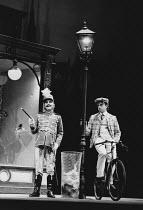 ON THE RAZZLE by Tom Stoppard adapted from Johann Nestroy design: Carl Toms lighting: Robert Bryan director: Peter Wood <br> l-r: Dinsdale Landen (Zangler), Michael Kitchen (Melchior) Lyttelton Theatr...