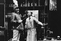 ON THE RAZZLE by Tom Stoppard adapted from Johann Nestroy design: Carl Toms lighting: Robert Bryan director: Peter Wood <br> Dinsdale Landen (Zangler), Felicity Kendal (Christopher) Lyttelton Theatre,...