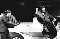MAN AND SUPERMAN by Bernard Shaw set design: Ralph Koltai costumes: David Walker lighting: Joe Davis director: Christopher Morahan <br> l-r: James Carter (Henry Straker), Daniel Massey (John Tanner) O...