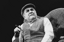 THE HOMECOMING by Harold Pinter set, costume & lighting design: John Bury director: Peter Hall <br> Warren Mitchell (Max) Comedy Theatre, London SW1 10/01/1991 (c) Donald Cooper/Photostage photos@phot...
