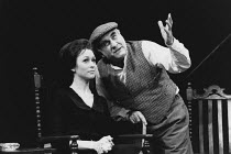 THE HOMECOMING by Harold Pinter set, costume & lighting design: John Bury director: Peter Hall <br>Cherie Lunghi (Ruth), Warren Mitchell (Max)Comedy Theatre, London SW1 10/01/1991(c) Donald Cooper/Pho...
