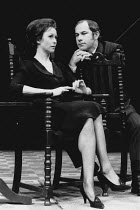 THE HOMECOMING by Harold Pinter set, costume & lighting design: John Bury director: Peter Hall <br>Cherie Lunghi (Ruth), Nicholas Woodeson (Lenny)Comedy Theatre, London SW1 10/01/1991(c) Donald Cooper...