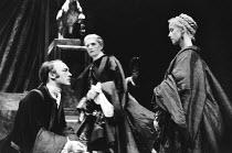 PHEDRA by Jean Racine English stage version by Robert David MacDonald directed & designed by Philip Prowse lighting: Gerry Jenkinson <br> l-r: Tim Woodward (Hippolytus), Robert Eddison (Theramenes),...
