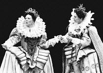 AS YOU LIKE IT by Shakespeare set design: Hayden Griffin costumes: Peter J Hall lighting: Andy Phillips fights: William Hobbs director: John Dexter <br> l-r: Marjorie Yates (Celia), Sara Kestelman (Ro...