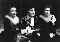 AS YOU LIKE IT by Shakespeare design: Farrah lighting: Terry Hands & Clive Morris director: Terry Hands <br> l-r:Sinead Cusack (Celia), Joe Melia (Touchstone), Susan Fleetwood (Rosalind) Royal Shakesp...
