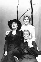 THREE SISTERS by Anton Chekhov design & lighting: Giorgi Meskhishvili director: Robert Sturua <br> l-r: Lynne Redgrave (Masha), (rear) Jemma Redgrave (Irina), Vanessa Redgrave (Olga) Queen's Theatre,...