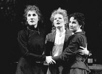 THREE SISTERS by Anton Chekhov set design: Timothy O'Brien costumes: Louise Belson director: John Barton <br> l-r: Harriet Walter (Masha), Stella Gonet (Irina), Deborah Findlay (Olga) Royal Shakespear...