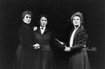 THREE SISTERS by Anton Chekhov set design: Timothy O'Brien costumes: Louise Belson director: John Barton <br> l-r: Harriet Walter (Masha), Deborah Findlay (Olga), Stella Gonet (Irina) Royal Shakespear...