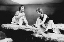 WHEN I WAS A GIRL, I USED TO SCREAM AND SHOUT by Sharman Macdonald design: Robin Don director: Simon Stokes <br> l-r: Celia Imrie (Vari), Eleanor David (Fiona) Bush Theatre, London W12 07/11/1984 (c)...