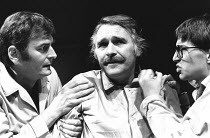 TAKING STEPS by Alan Ayckbourn set design: Alan Tagg costumes: Lindy Hemming director: Michael Rudman <br>l-r: Paul Chapman (Mark), Dinsdale Landen (Roland), Michael Maloney (Tristram)Lyric Theatre, L...