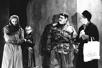 MOUNTAIN LANGUAGE written & directed by by Harold Pinter design: Michael Taylor lighting: Laurence Clayton <br> front left: Miranda Richardson (Young Woman) right: Michael Gambon (Sergeant), Eileen At...