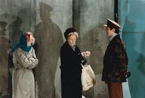 MOUNTAIN LANGUAGE written & directed by by Harold Pinter design: Michael Taylor lighting: Laurence Clayton <br> l-r: Miranda Richardson (Young Woman), Eileen Atkins (Elderly Woman), Julian Wadham (Off...