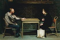 MOUNTAIN LANGUAGE written & directed by by Harold Pinter design: Michael Taylor lighting: Laurence Clayton <br> Tony Haygarth (Prisoner), Eileen Atkins (Elderly Woman) Lyttelton Theatre, National Thea...