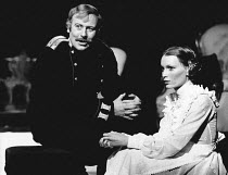 THREE SISTERS by Chekhov set design: Roger Butlin costumes: Daphne Dare director: Robin Phillips <br> Roger Hammond (Tuzenbach), Mia Farrow (Irina) Greenwich Theatre, London SE10 25/01/1973 (c) Donald...