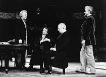 THE MADRAS HOUSE by Harley Granville Barker set design: Hayden Griffin costumes: Deirdre Clancy lighting: Rory Dempster director: William Gaskill <br> l-r: Joss Ackland (Eustace Perrin State), Ronald...
