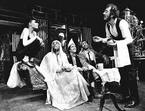 THE PEOPLE SHOW No. 86 <br> l-r: Dawn Archibald, George Nisar Ahmad Kahn, (rear) Doremy Vernon, Mark Long, Emil Wolk, Chahine Yavroyan Hampstead Theatre, London NW3 01/12/1980 (c) Donald Cooper/Photos...