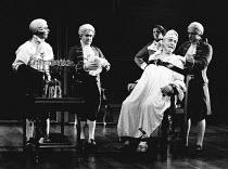 THE MADNESS OF GEORGE III by Alan Bennett design: Mark Thompson lighting: Paul Pyant director: Nicholas Hytner <br> being prepared for treatment: Nigel Hawthorne (King George III) Lyttelton Theatre, N...