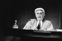 ONE WAY PENDULUM by N. F. Simpson design: Richard Hudson lighting: Bill Wardroper director: Jonathan Miller <br> Graham Crowden (Judge) The Old Vic, London SE1 03/05/1988 (c) Donald Cooper/Photostage...