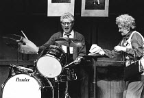 BORN IN THE GARDENS by Peter Nichols design: John Gunter director: Clifford Williams <br> Barry Foster (Mo), Beryl Reid (Maud) Globe Theatre, London W1 23/01/1980 (c) Donald Cooper/Photostage photos@p...