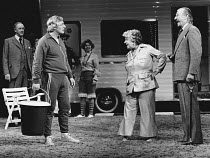 THE FREEWAY by Peter Nichols design: John Bury lighting: Nick Chelton director: Jonathan Miller <br>l-r: (rear) Graham Crowden (James), (front) Paul Rogers (Les), Irene Handl (May), Mark Dignam (Barry...