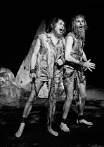 NOONDAY DEMONS by Peter Barnes design: John Napier lighting: Jim Howes director: Charles Marowitz <br> l-r: Anthony Jacobs, Joe Melia (St. Eusebius) Open Space Theatre, London W1 04/12/1969 (c) Donald...
