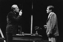 THE BROWNING VERSION by Terence Rattigan design: Carl Toms lighting: Brian Ridley director: Michael Rudman <br> l-r: Alec McCowen (Andrew Crocker-Harris), Nicky Henson (Frank Hunter) Lyttelton Theatre...