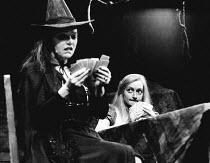 HANSEL AND GRETEL by David Rudkin design: Chris Dyer lighting: Leo Leibovici director: Ron Daniels <br> l-r: Brenda Bruce (The Witch), Janine Duvitski (Gretel) Royal Shakespeare Company (RSC), The Oth...