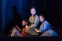 JACK THE RIPPER: The Women of Whitechapel music: Iain Bell libretto: Emma Jenkins conductor: Martyn Brabbins design: Soutra Gilmour lighting: Paul Anderson director: Daniel Kramer <br> l-r: Ashirah Fo...