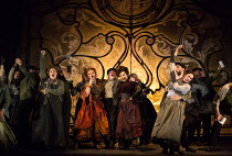 JACK THE RIPPER: The Women of Whitechapel music: Iain Bell libretto: Emma Jenkins conductor: Martyn Brabbins design: Soutra Gilmour lighting: Paul Anderson director: Daniel Kramer <br> down the pub, c...