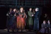 JACK THE RIPPER: The Women of Whitechapel music: Iain Bell libretto: Emma Jenkins conductor: Martyn Brabbins design: Soutra Gilmour lighting: Paul Anderson director: Daniel Kramer <br> standing, front...