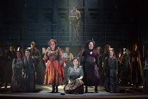 JACK THE RIPPER: The Women of Whitechapel music: Iain Bell libretto: Emma Jenkins conductor: Martyn Brabbins design: Soutra Gilmour lighting: Paul Anderson director: Daniel Kramer <br> front centre, l...
