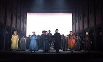 JACK THE RIPPER: The Women of Whitechapel music: Iain Bell libretto: Emma Jenkins conductor: Martyn Brabbins design: Soutra Gilmour lighting: Paul Anderson director: Daniel Kramer <br> l-r: Janis Kell...