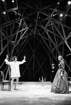 THE GRACE OF MARY TRAVERSE by Timberlake Wertenbaker design: Kandis Cook lighting: Christopher Toulmin director: Danny Boyle <br> l-r: David Beames (Mr Hardlong / Jack), (rear) Pam Ferris (Mrs Temptwe...