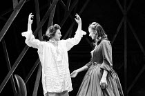 THE GRACE OF MARY TRAVERSE by Timberlake Wertenbaker design: Kandis Cook lighting: Christopher Toulmin director: Danny Boyle <br> David Beames (Mr Hardlong / Jack), Janet McTeer (Mary Traverse) Royal...