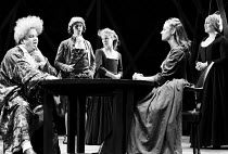 THE GRACE OF MARY TRAVERSE by Timberlake Wertenbaker design: Kandis Cook lighting: Christopher Toulmin director: Danny Boyle <br> l-r: Harold Innocent (Giles Traverse / Lord Exrake), Jonathan Phillips...