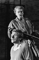 THE SAXON SHORE by David Rudkin music: Oliver Knussen design: Hildegard Bechtler lighting: Jean Kalman director: Pierre Audi <br> (front) Gerard Murphy (Athdark), (rear) Robert Eddison (Cambyses / The...