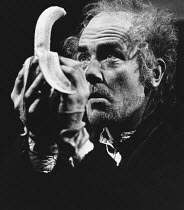 KRAPP'S LAST TAPE by Samuel Beckett design: Jocelyn Herbert lighting: Rory Dempster director: Anthony Page <br>~Albert Finney (Krapp) Royal Court Theatre, London SW1 01/1973 (c) Donald Cooper/Photosta...