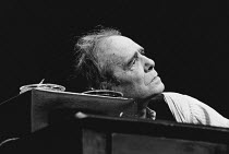 KRAPP'S LAST TAPE by Samuel Beckett director: Patrick Magee <br> Max Wall (Krapp) Greenwich Theatre, London SE10 03/12/1975 (c) Donald Cooper/Photostage photos@photostage.co.uk ref/BW-P-267-32a