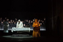 JACK THE RIPPER: The Women of Whitechapel music: Iain Bell libretto: Emma Jenkins conductor: Martyn Brabbins design: Soutra Gilmour lighting: Paul Anderson director: Daniel Kramer <br> autopsy in prog...