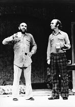 THE GREAT CAPER by Ken Campbell design: Bob Ringwood director: Nicholas Wright <br> Bedsitting room - l-r: Warren Mitchell (Ion Alexis Will), Ken Campbell (Stu Lions) Royal Court Theatre, London SW1 0...