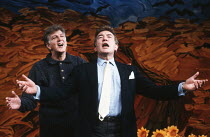 REFLECTED GLORY by Ronald Harwood design: Saul Radomsky lighting: Paul Pyant director: Elijah Moshinsky <br> l-r: Stephen Moore, Albert Finney Vaudeville Theatre, London WC2 08/04/1992 (c) Donald Coop...