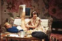 ENTERTAINING MR SLOANE by Joe Orton design: Mark Bailey lighting: Paul Pyant director: Jeremy Sams <br> Ben Daniels (Mr Sloane), Janet Dale (Kath) Greenwich Theatre, London SE10 15/02/1993 (c) Donald...